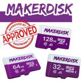 Thẻ nhớ microSD MakerDisk đã cài sẵn RPi OS - Được phê duyệt bởi Raspberry Pi
