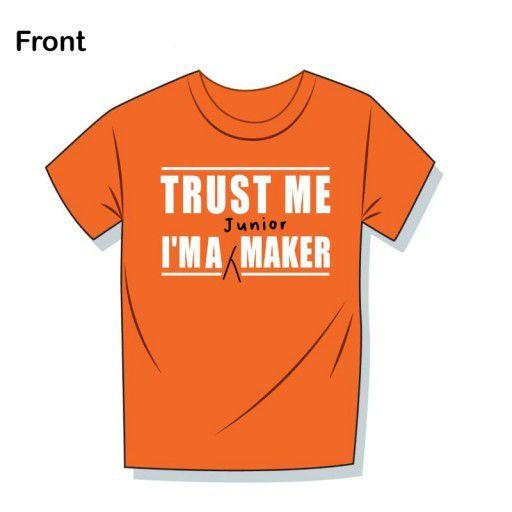 Trust Me Junior Maker Orange T-Shirt