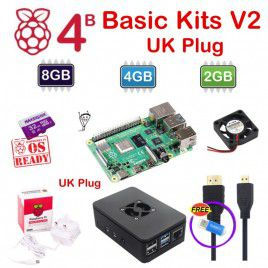 Raspberry Pi 4 Model B Basic Kits V2 - UK Plug