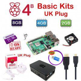Raspberry Pi 4 Model B Basic Kits - UK Plug