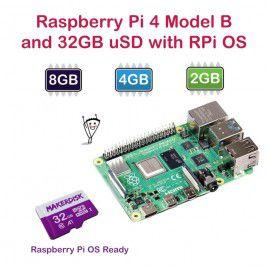 Raspberry Pi 4 Model B with 32GB microSD Card Kits