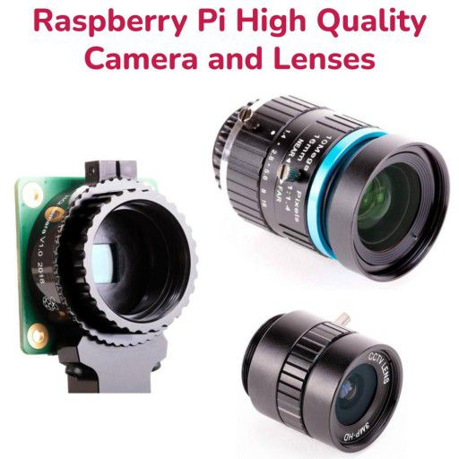 Official Raspberry Pi HQ Camera and Lenses