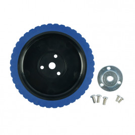 5 Inches Robot Wheel With 8mm Key Hub