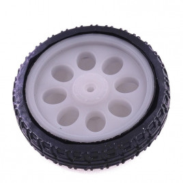 Rubber Wheel for TT Motor (63mmx15mm)