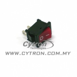 Rocker Switch Small 2 Pins Red