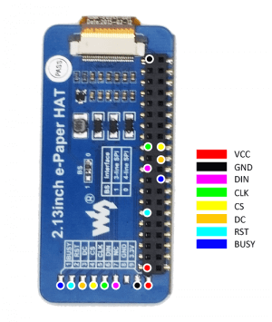 2 13inch E-Ink display HAT for Raspberry Pi, three-color