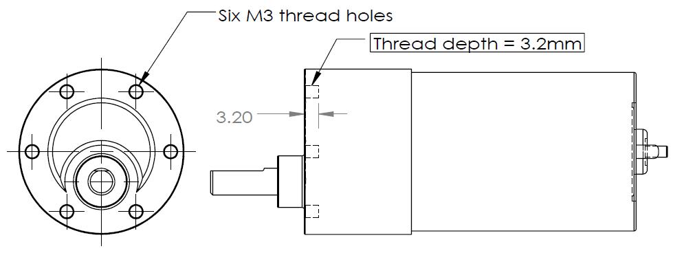Dc gear motor spg50 20k refurbishe end 6 29 2020 11 11 pm for Dc gear motor specifications